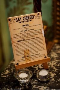 UberQuirky Gallery, wedding cheese menu