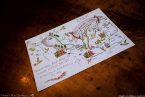 Wedding map, photo by Martins Kikulis