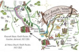 UberQuirky Gallery, wedding map