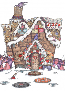 UberQuirky Gallery, Christmas gingerbread house