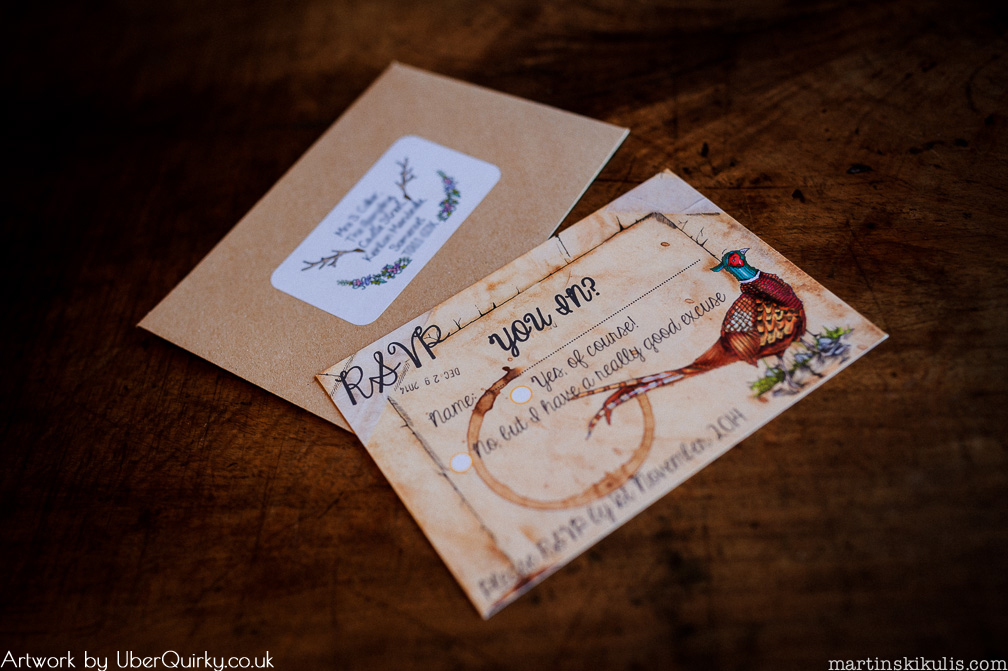 Weddings RSVP front & envelope