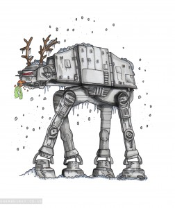 UberQuirky Gallery, Star Wars inspired Christmas card