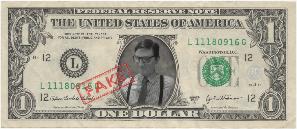 Party Pro, Fake Dollar Bill 80's, featuring personalised image